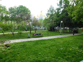 Photo: Zasloužený odpočinek po zevlovačce kyjevskými bulváry.