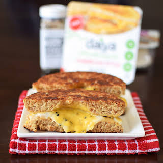 Inside Out Everything Grilled Cheese Bagel.