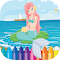 Little Mermaid Princess Coloring Book Page file APK Free for PC, smart TV Download