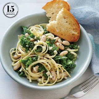 Weight Watchers Linguine With Garlicky Kale And White Beans