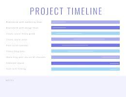 Pastel Project Timeline - Project Timeline item