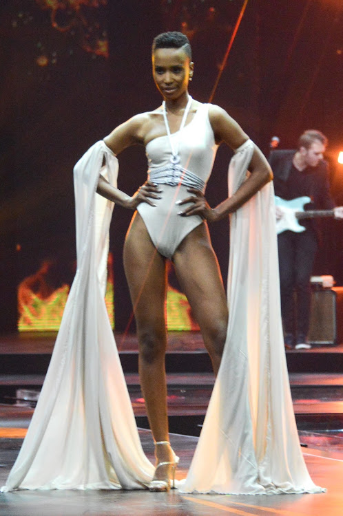 Zozibini Tunzi during the grand finale of Miss South Africa 2019 at the Time Square Sun Arena in Pretoria, South Africa.