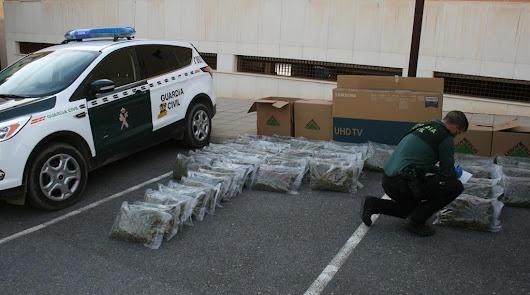 Detenido un vecino de Arboleas con 72 kilos de marihuana en el vehículo