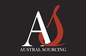 Création de l'identité visuelle de l'entreprise - Logo et papaterire - Austral Sourcing Lyon