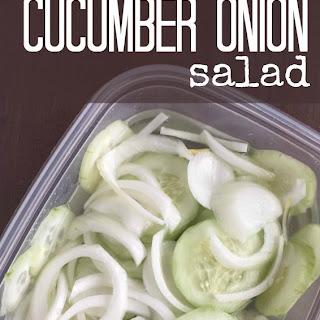 Cucumber & Onions Salad Recipe