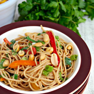 Whole Wheat Pasta with Peanut Sauce