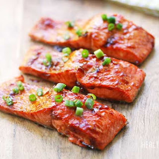 Brown Sugar Glazed Salmon.