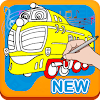 Adventures Train Chugging Coloring for Kids APK