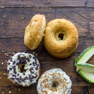 Zucchini Cake Donuts with Light Cream Cheese Frosting