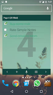 Simple Notes Widget- screenshot thumbnail