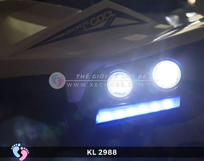 Xe ô tô điện đồ chơi trẻ em KL-2988 ghế da 13