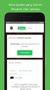 Moualva: Curhat kan dengan Quotes + Quotes Maker - náhled