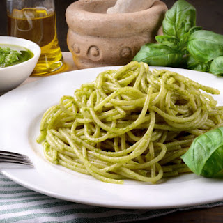 Easy Pasta Recipe With Classic Basil Pesto.