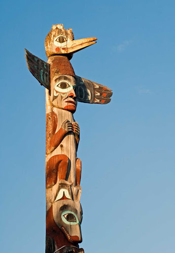Tlingit-Totem-Pole.jpg - See the Tlingit Totem Pole and learn about Native culture in Pioneer Square, Seattle, on an American Spirit cruise.