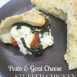 Pesto and Goat Cheese Stuffed Chicken.