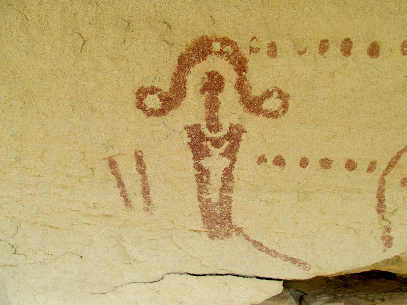Photo: Painted and pecked rock art