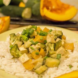 Thai Pumpkin Curry With Green Veggies & Tofu