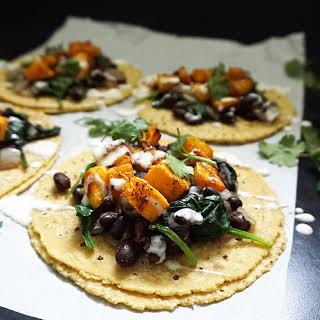Butternut Squash Tacos (vegan).