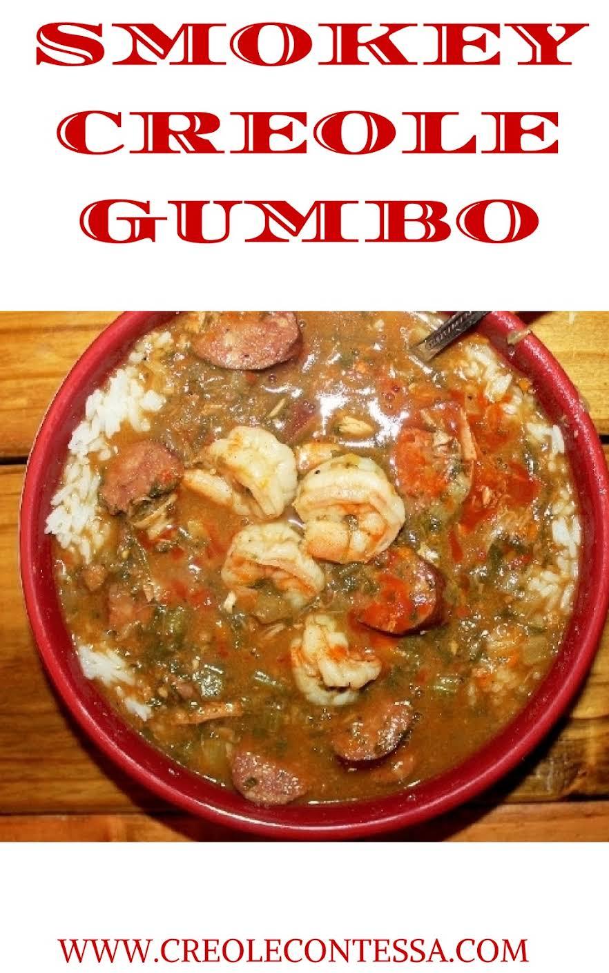 Smokey Creole Gumbo with Hot Sauce