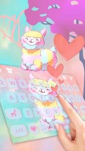 Cartoon Lovely Alpaca Keyboard Theme - náhled