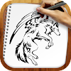 Draw Tattoo Wolves