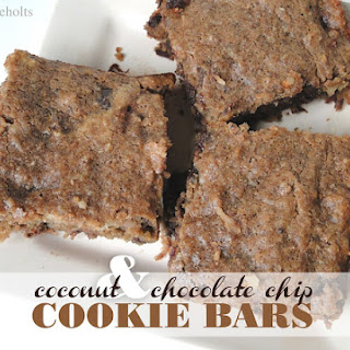 Coconut & Chocolate Chip Cookie Bars.