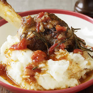 Slow Cooked Lamb Shanks.
