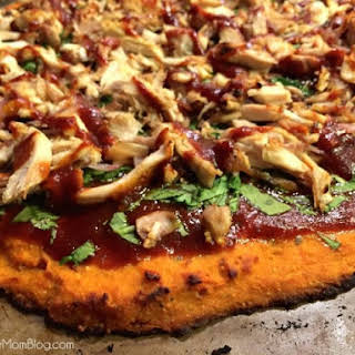 Sweet Potato Crust Pizza with Tangy BBQ Chicken.