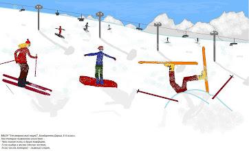 """Photo: Бондаренко Дарья, 8 класс, Нестеровский лицей """"Настоящим лыжникам известно - Что такое есть в душе комфорт, Если выбор в жизни сделан честно, Если часть которой -лыжный спорт."""""""