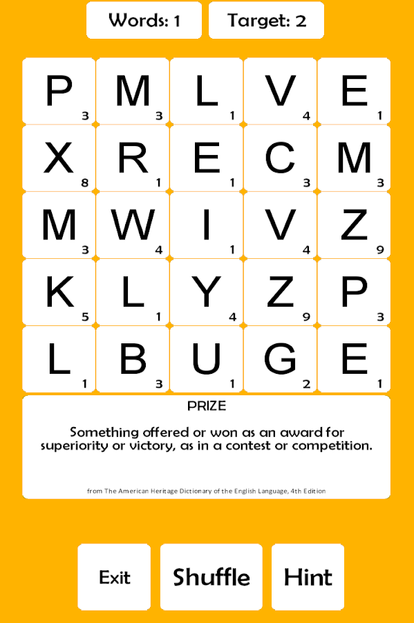 Word Scrabble- screenshot