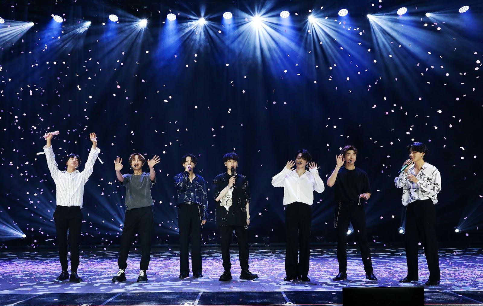 BTS bang bang con end white bow