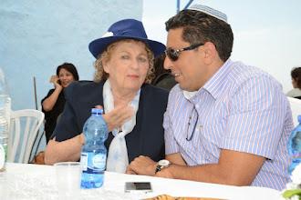 Photo: יהודית עבו עברון עם ראש העיר מר אילן שוחט