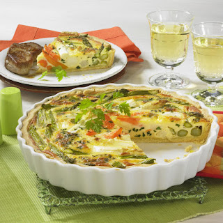 Asparagus Quiche with Pork Medallions