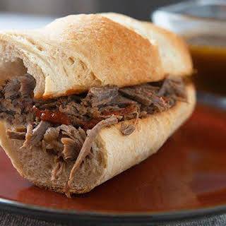 Slow-Cooker French Dip with Au Jus Sauce.