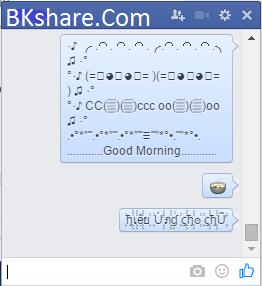 Tiện ích Vi Emoji - emoticons chat độc đáo cho Facebook