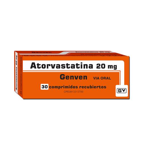 Atorvastatina Genven 20 mg x 30 comprimidos