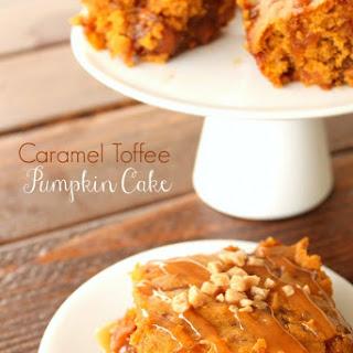 Caramel Toffee Pumpkin Cake