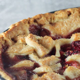 Peach, Raspberry And Basil Pie