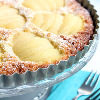 Pear and Almond Tart (Dairy and Gluten Free).