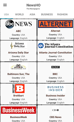 USA Newspapers - 80+ American English Newspapers screenshots 1