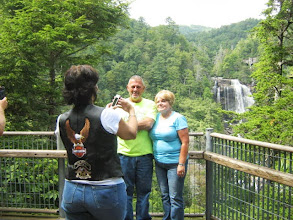 Photo: Luanne taking a picture of Bobby & Pam and the waterfall.