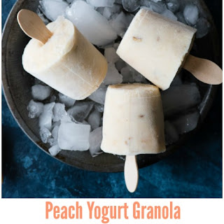 Peach Yogurt Granola Breakfast Popsicles