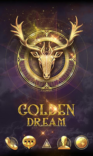 Golden Dream GO Launcher Theme