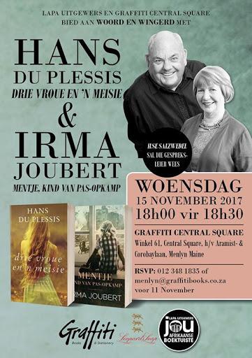 Woord & Wingerd met Hans du Plessis & Irma Joubert : Graffiti Books & Stationery Menlyn Maine