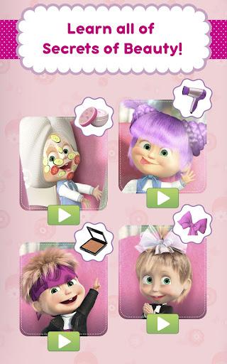 Masha and the Bear: Hair Salon and MakeUp Games 1.1.8 screenshots 9