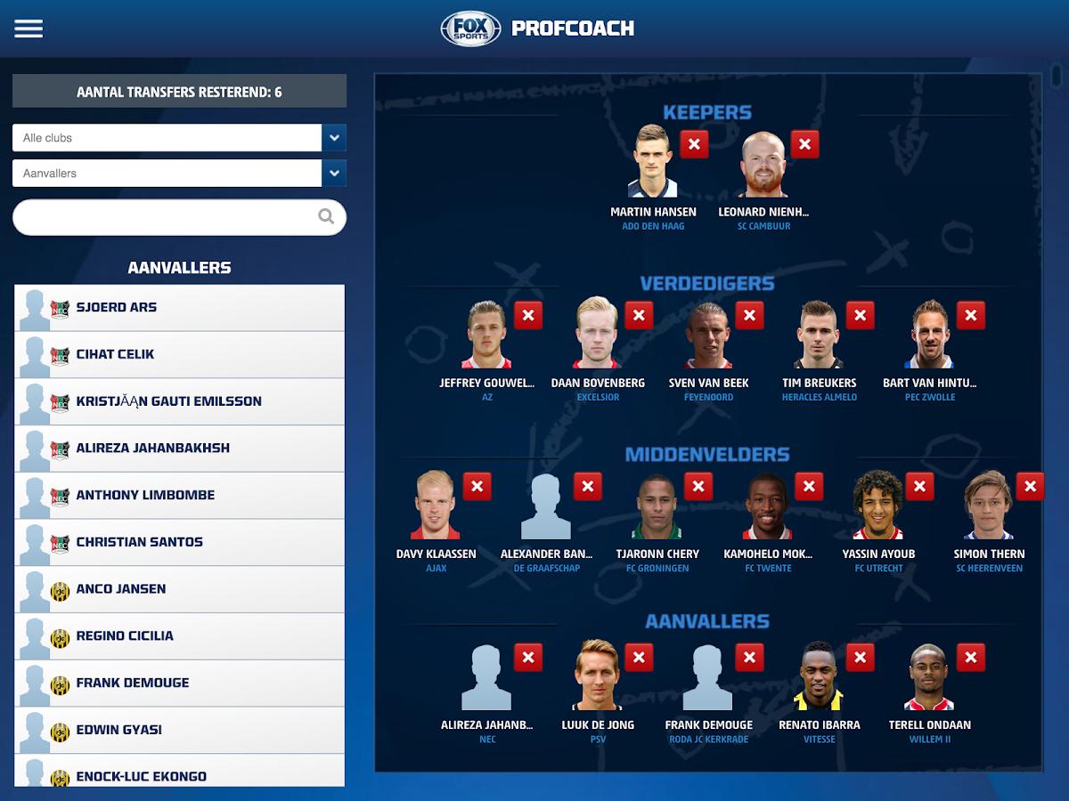 Profcoach- screenshot