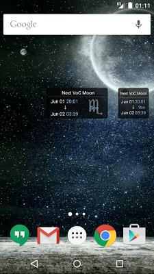 Simple VoC Moon Calendar Lite - screenshot