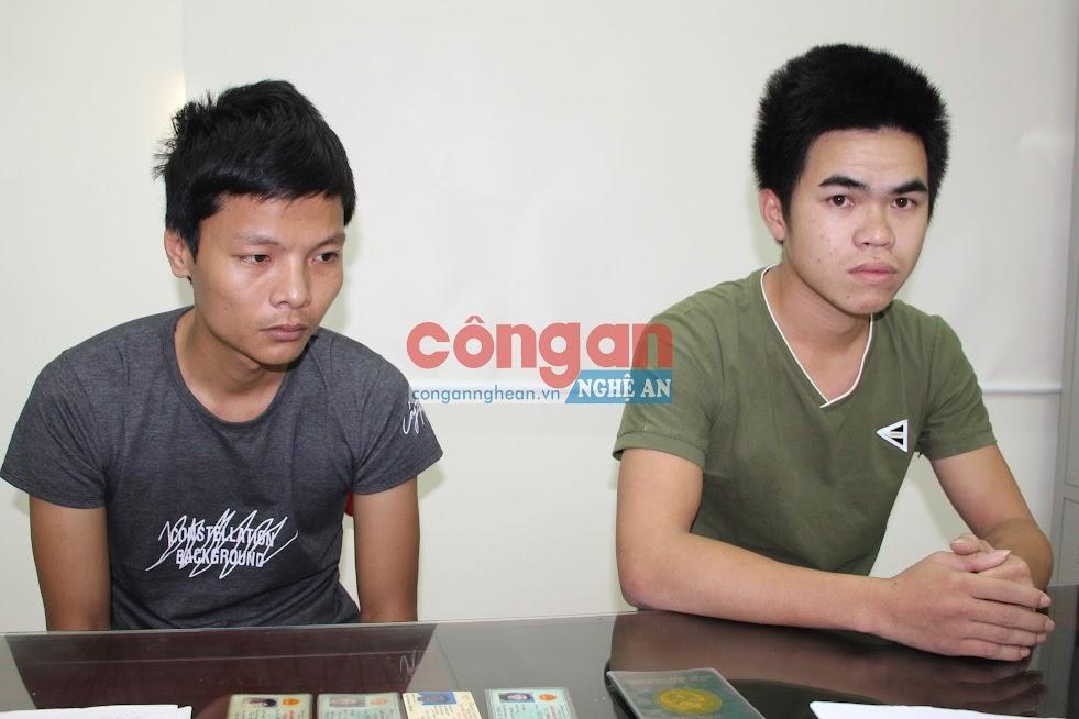2 đối tượng Lê Xuân Hải và Nguyễn Cảnh Quảng tại Cơ quan điều tra