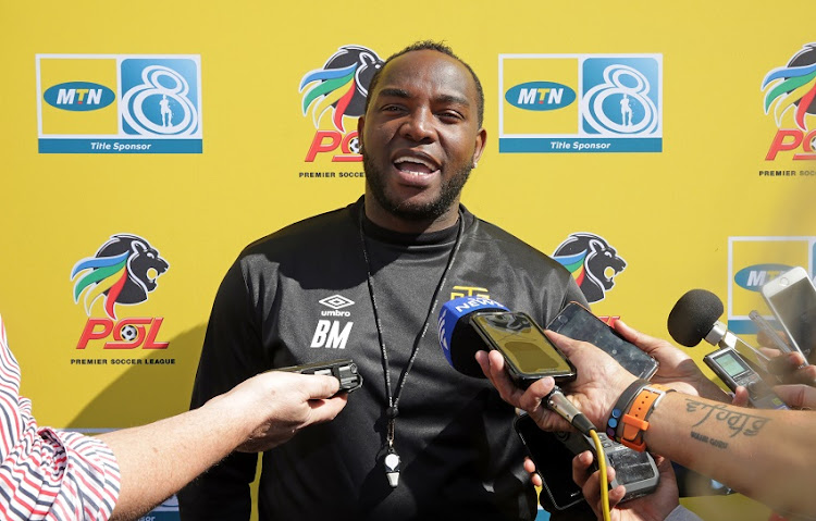 Benni McCarthy, Head Coach of Cape Town City talks to the media during the Cape Town City FC MTN 8 Media Open Day at Hartleyvale Stadium, Cape Town on 23 August 2018.