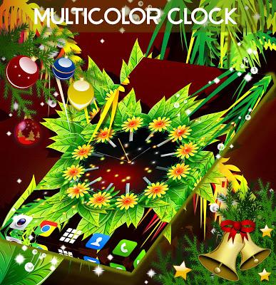 Multicolor Clock Live - screenshot